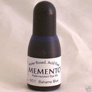 BAHAMA BLUE Re-Inker for Memento ink pad, 15ml bottle