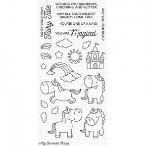 BB-34 ~ Magical Unicorns ~ CLEAR CLING BACKED STAMPS~ MY FAVORITE THINGS