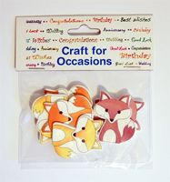 C2240 ~ FOXES ~ TRIMITS ~ pack of 6