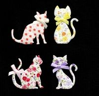 C2274 ~ CATS ASSORTED ~ TRIMITS ~ pack of 4