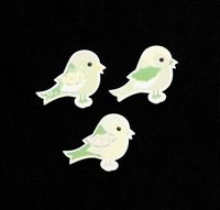 C2293 ~ GREEN BIRDS ~ TRIMITS ~ pack of 6