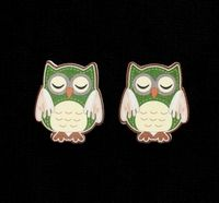 C2295 ~ SLEEPING OWLS ~ TRIMITS ~ pack of 6