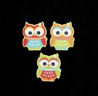 C2297 ~ BRIGHT OWLS ~ TRIMITS ~ pack of 6