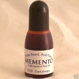 CANTALOUPE RE-INKER for Memento ink pad, 15ml bottle