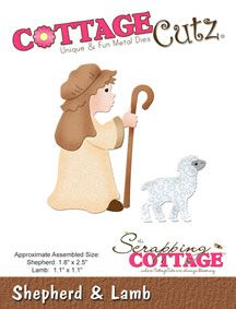 CC-061 ~ SHEPHERD AND LAMB ~ Cottage Cutz die