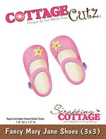 CC3x3-104 ~ FANCY MARY JANE SHOES ~ Cottage Cutz die