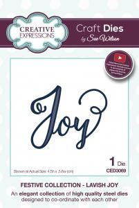 CED3069 ~ LAVISH JOY ~ Festive Collection ~ Sue Wilson