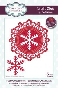 CED3077 ~ BOLD SNOWFLAKE FRAME ~ Festive Collection ~ Sue Wilson