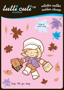 CHK013 ~ SHOP TILL YOU DROP ~ TUTTICUTI STAMP