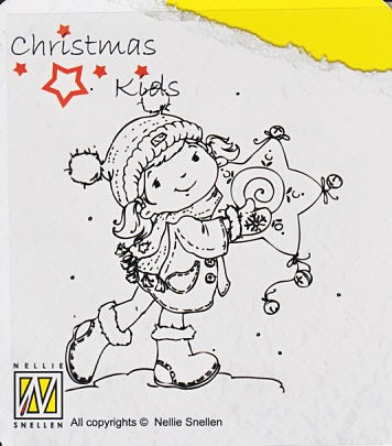 CK001 ~ LIKE MY STAR? ~ Christmas Kids Nellie Snellen Clear Stamps