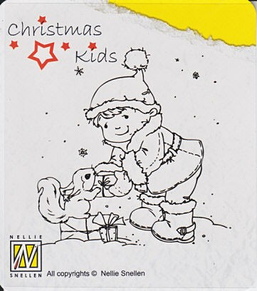 CK004 ~ PRESENT FOR YOU ~ Christmas Kids Nellie Snellen Clear Stamps
