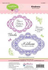 CL-02095 ~ Kindness  ~ JustRite cling stamp set