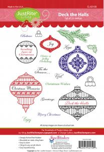 CL-02150 ~ Deck the Halls ~ JustRite cling stamp set