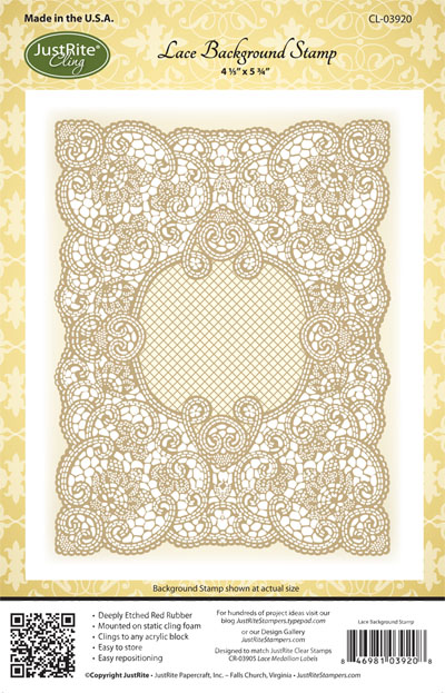 CL-03920 ~ LACE BACKGROUND ~ JustRite cling stamp set