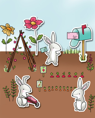 CL401~  HOP TO IT  ~  Poppystamp