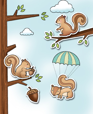 CL406  ~  COVER SQUIRREL  ~  Poppystamp