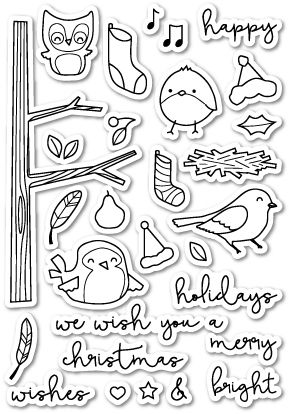 CL414 ~  YULETIDE BIRDIES  ~  Poppystamp