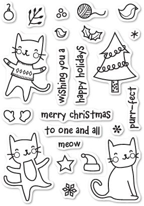 CL431 ~  PURRFECT HOLIDAYS  ~  Poppystamp