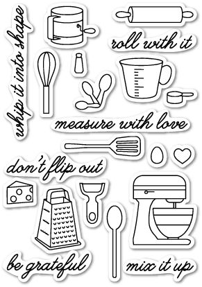 CL5164 ~   IN THE KITCHEN ~  Open Studio Clear Stamps