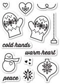 CL5188 ~ WARM HEART ~  Open Studio Clear Stamps