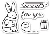 CL5193 ~  BUNNY GIFT ~  Open Studio Clear Stamps