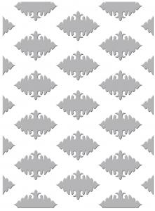 CO723026 ~ ORNATE DIAMONDS~ Couture Creations Gift Wrapping embossing folder