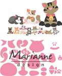 COL1454 ~ Eline's Kittens  - Marianne Design Collectables