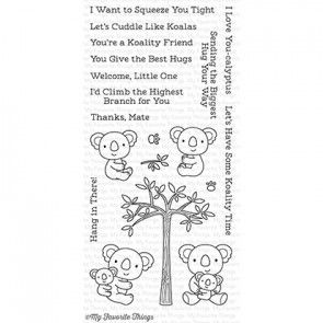 CS-196 ~ Cuddly Koalas ~ CLEAR CLING BACKED STAMPS~ MY FAVORITE THINGS