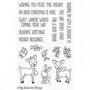 CS-238 ~ Dashing Deer ~ CLEAR CLING BACKED STAMPS~ MY FAVORITE THINGS