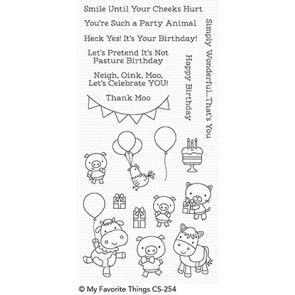 CS-254~  Party Animals ~ CLEAR CLING BACKED STAMPS~ MY FAVORITE THINGS