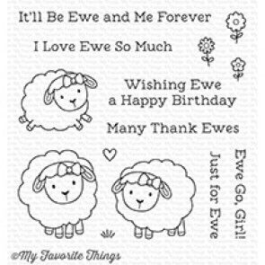 CS-258 ~ Ewe and Me Forever ~ CLEAR CLING BACKED STAMPS~ MY FAVORITE THINGS