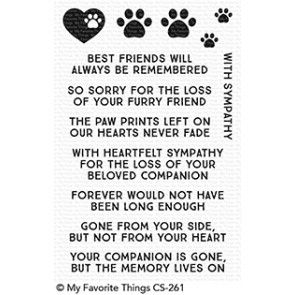 CS-261 ~ Critter Condolences ~ CLEAR CLING BACKED STAMPS~ MY FAVORITE THINGS