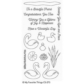 CS-273 ~ Splendid Swans ~ CLEAR CLING BACKED STAMPS~ MY FAVORITE THINGS