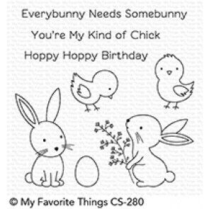 CS-280 ~ Hoppy Friends ~ CLEAR CLING BACKED STAMPS~ MY FAVORITE THINGS