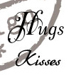 CS0888 ~ HUGS  KISSES  ~  Marianne Designs Clear stamps