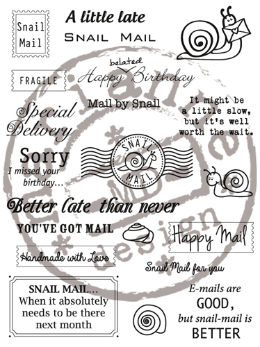 CS0899 ~ SNAIL MAIL  ~  Marianne Designs set of Clear stamps