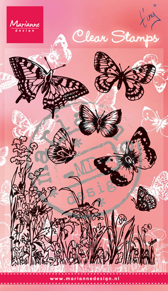 CS0926 ~ BUTTERFLIES & FLOWERS  ~  Marianne Designs Clear stamp