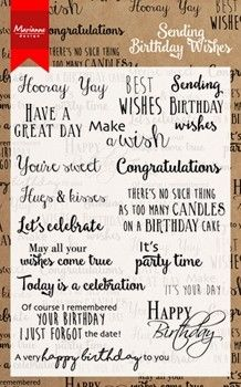 CS0996 ~ SENDING BIRTHDAY WISHES ~ Marianne Designs Clear stamp