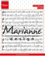 CS0997 ~ Music Notes ~  Marianne Designs Clear stamp