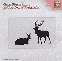 CSIL001 ~ Reindeer ~ Christmas Silhouette Nellie Snellen Clear Stamps