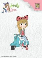 CSLL003 ~ Lena on Scooter ~ Lovely Lena Nellie Snellen Clear Stamps