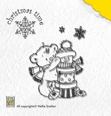 CT005 - PRESENT BEAR - Nellie Snelling clear stamp