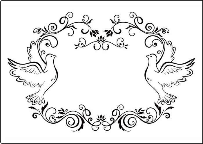 Cta409 Dove Frame A4 Embossing Folder By Crafts Too