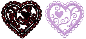CTDI 7018 ~ HEART DELIGHT DIE ~ Crafts Too Cutting and Embossing Die