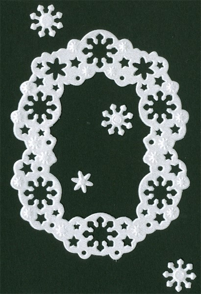 CTDI 7061 ~ SNOW FRAME ~ Crafts Too Cut and Emboss Die