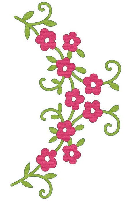 CTDI 7083 ~ FLOWER SWAG ~ Crafts Too Cut and Emboss Die