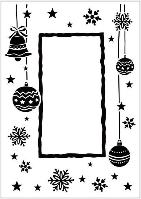 CTFD 3033 HAPPY CHRISTMAS FRAME embossing folder Crafts Too