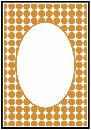 CTFD 3045 ~ DOTS FRAME ~ embossing folder Crafts Too