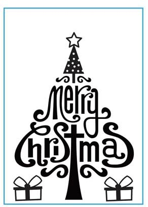 CTFD 3071 ~ MERRY CHRISTMAS ~ embossing folder by Crafts Too.