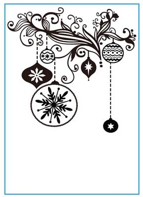 CTFD 3073 ~ DECORATIONS ~ embossing folder by Crafts Too.